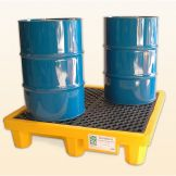 ULTRA SPILL PALLET FOUR DRUM WITH DRAIN