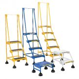 SPRING LOADED ROLL LADDER PERF 1 STP WHT