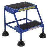 SPRING LOADED ROLL LADDER 2 STEP BLUE
